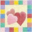DENISE DeRUSHA DESIGNS DD-163 Candy Hearts 8 x 8 18 Mesh