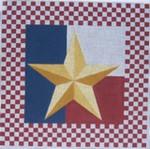 DENISE DeRUSHA DESIGNS DD-179 Checkerboard Star 17 x 17 18 Mesh