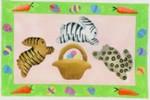 DENISE DeRUSHA DESIGNS DD-260 Wild Bunnies 9 1/2 x 6 18 Mesh