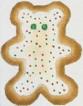 DENISE DeRUSHA DESIGNS DD-277 Bear Cookie 4 x 4 1/2 18 Mesh