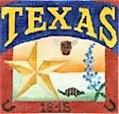 DENISE DeRUSHA DESIGNS DD-300 Texas Postcard 4 1/2 x 4 1/2 18 Mesh