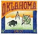 DENISE DeRUSHA DESIGNS DD-301 Oklahoma Postcard 4 1/2 x 4 1/2 18 Mesh