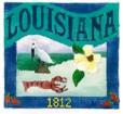 DENISE DeRUSHA DESIGNS DD-302 Louisiana Postcard 4 1/2 x 4 1/2 18 Mesh
