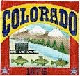 DENISE DeRUSHA DESIGNS DD-303 Colorado Postcard 4 1/2 x 4 1/2 18 Mesh