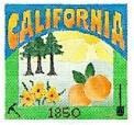 DENISE DeRUSHA DESIGNS DD-304 California Postcard 4 1/2 x 4 1/2 18 Mesh
