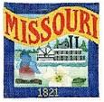 DENISE DeRUSHA DESIGNS DD-307 Missouri Postcard 4 1/2 x 4 1/2 18 Mesh