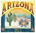 DENISE DeRUSHA DESIGNS DD-308 Arizona Postcard 4 1/2 x 4 1/2 18 Mesh