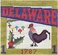 DENISE DeRUSHA DESIGNS DD-313 Delaware Postcard 4 1/2 x 4 1/2 18 Mesh