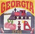 DENISE DeRUSHA DESIGNS DD-314 Georgia Postcard 4 1/2 x 4 1/2 18 Mesh