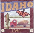DENISE DeRUSHA DESIGNS DD-316 ldaho Postcard 4 1/2 x 4 1/2 18 Mesh