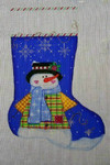 CXS25 Cheryl Schaeffer And Annie Lee Designs Christmas Stocking 20 x 13 13 Mesh Snowman Snowflake