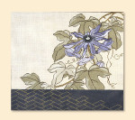 015A  Red Thread Designs Passion Flower, 16 x 14, mesh 18, white,T. Enfield