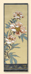 018A Red Thread Designs Peony Hanging, 9 x 27, mesh 13, eggshell, T. Enfield