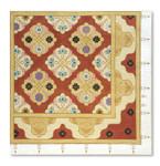 156 Red Thread Designs Arabesque, 18 x18, mesh 18, sandstone, T. Enfield