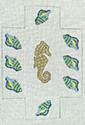 BRK214 J. Child Designs Brick Seahorse & shells