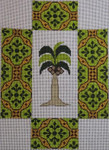 BRK216 J. Child Designs Brick Palm Tree