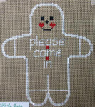 The Studio Midwest X18C Gingerbread Man Please Come In CHRISTMAS 13 Mesh