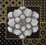 1029 White Flower Collage 13 x 13 13 Mesh  Lani Enterprises
