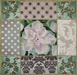 1030a Pasel Aloe collage 15 x 15 13 Mesh-Violet Lani Enterprises