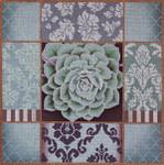 1030c Pasel Aloe Collage Blue15 x 15 13 Mesh Lani Enterprises