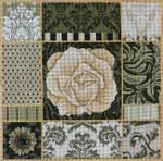 1040 Umber Floral Collage 15 x 15 13 Mesh Lani Enterprises