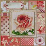 1041 Vintage Rose Floral 15 x 15 13 Mesh  Lani Enterprises