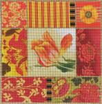 1042 Red Tulip Collage 15 x 15 13 Mesh Lani Enterprises