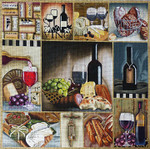 1048 Wine & Cheese Collage 18 Mesh Lani Enterprises