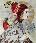 1051 Isabella Lady in Turban 14 x 17 18 Mesh Lani Enterprises