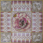 1060 Mauve & Pink Rose Collage 15 x 15 13  Mesh Lani Enterprises