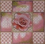 1063 Pink Rose Collage 15x15 13 Mesh Lani Enterprises