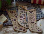 Betsy's Stockings Plum Street Sampler Distributed By Kelmscott Designs