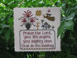 Angels' Praise Plum Street Sampler Distributed By Kelmscott Designs
