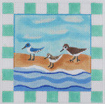 BB04 Sandpiper BB Needlepoint Designs 13 Mesh  w/border 7 x 7