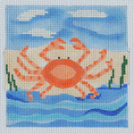 BB05 Crab BB Needlepoint Designs 13 Mesh 6 x 6