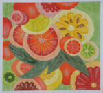 BB56 Citrus BB Needlepoint Designs 18 Mesh With Stitch Guide 9x11