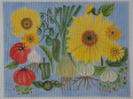BB57 Sunflowers And Leeks BB Needlepoint Designs 18 Mesh With Stitch Guide 12x9