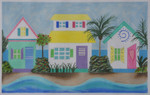 BB32 Caribbean Row Houses BB Needlepoint Designs 18 Mesh