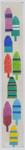 BB42a Buoys Key Fob BB Needlepoint Designs 18 Mesh 2 x 6