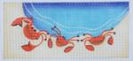 BB42b crab wallet BB Needlepoint Designs 18 Mesh 3x5
