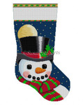 "0154 Frosty Moon. stocking 13 Mesh 19"" h Susan Roberts Needlepoint"