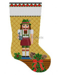 "0184 Nutcracker, Beermelsterl stockrng #13 Mesh 19"" h  Susan Roberts Needlepoint"