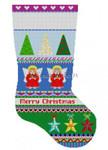 "0197 Bold Stripe Angles. stocking #13 Mesh 19"" high Susan Roberts Needlepoint"