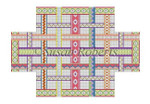 "0357 Woven Ribbons, brick cover 13 Mesh 8 1/2"" x 4 1/2"" x 2 3/4"" Susan Roberts Needlepoint"