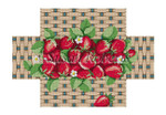 "0354 Basket of Strawberfles brick cover 13 Mesh 8 1/2"" x 4 1/2"" x 2 3/4"" Susan Roberts Needlepoint"