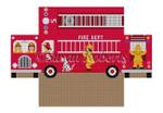 "0361 Fire Truck, brick cover 13 Mesh 8 1/2"" x 4 1/2"" x 2 3/4"" Susan Roberts Needlepoint"