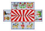"""0358 Circus Parade, brick cover 13 Mesh 8 1/2"""" x 4 1/2"""" x 2 3/4"""" Susan Roberts Needlepoint"""