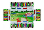 "0359 Golf Carts, brick cover 13 Mesh 8 1/2"" x 4 1/2"" x 2 3/4"" Susan Roberts Needlepoint"