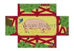 """0398 Pig Pen, brick cover 13 Mesh 8 1/2"""" x 4 1/2"""" x 2 3/4"""" Susan Roberts Needlepoin"""