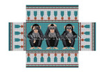 "0383 Hear, See, Speak, No Evil, brick cover 13 Mesh 8 1/2"" x 4 1/2"" x 2 3/4"" Susan Roberts Needlepoint"